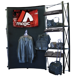 8' Curved Merchandiser Apparel display